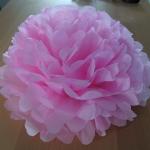 Fleur en papier de soie DIY
