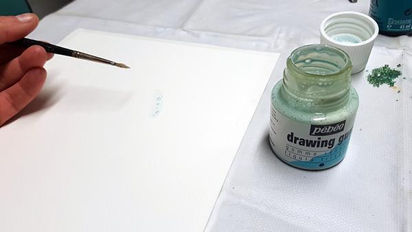 encres aquarelle et drawing gum two pour le diy. Black Bedroom Furniture Sets. Home Design Ideas