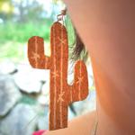 Les boucles d'oreilles Cactus en liège 🌵