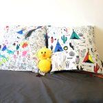 Idée : Le coussin à colorier DIY