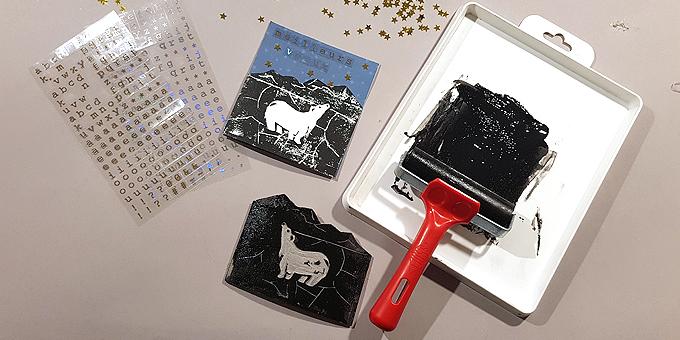 linogravure imprimez vos cartes de v ux avec un tampon fait maison two pour le diy. Black Bedroom Furniture Sets. Home Design Ideas