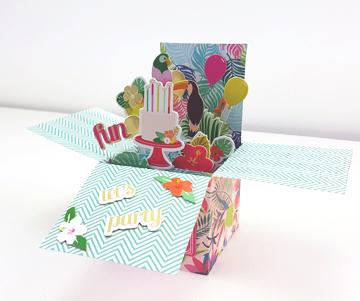 Bricolage carte pop up anniversaire