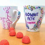 Fête des mères : la tasse gribouillée avec les feutres Porcelaine