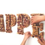 Lettres décoratives : Recyclez vos bouchons de liège