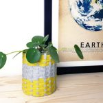 Pot de fleurs : Tissage express avec du Trapilho