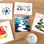 Recyclage : De jolies cartes de vœux à créer avec les enfants 💌